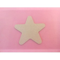 4mm MDF Star rounded Ends 100mm